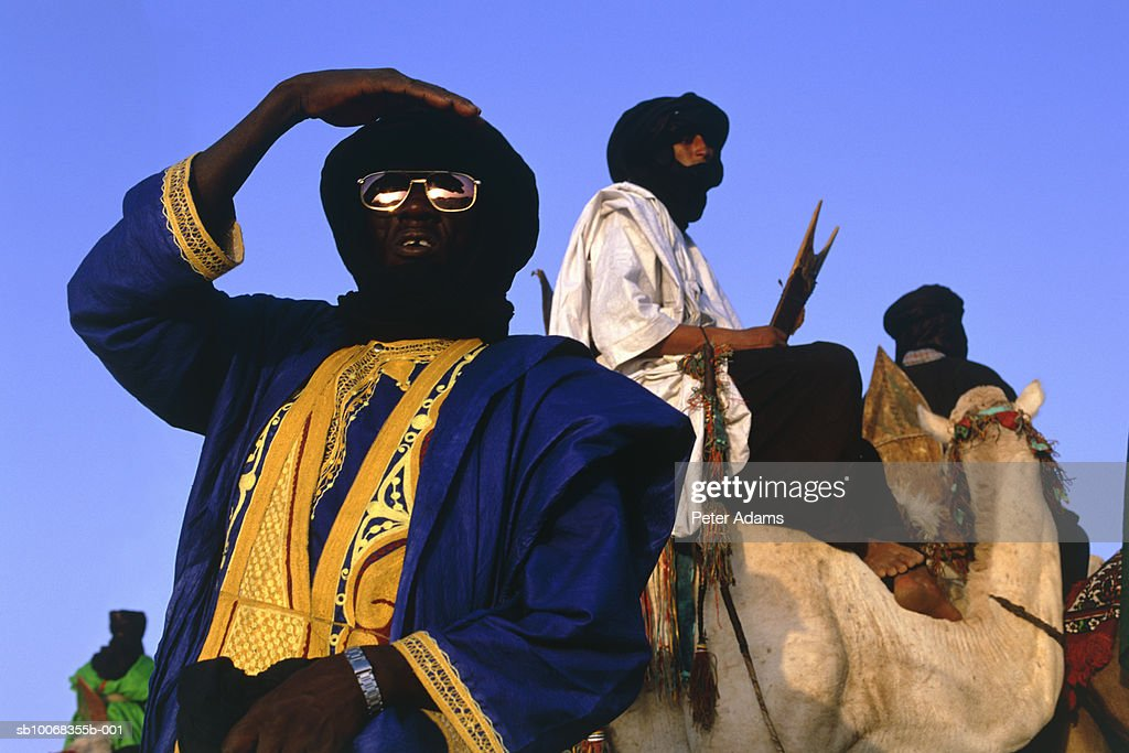Timbuktu, Mali, Sahara desert, Touaregs on camels : Stock Photo