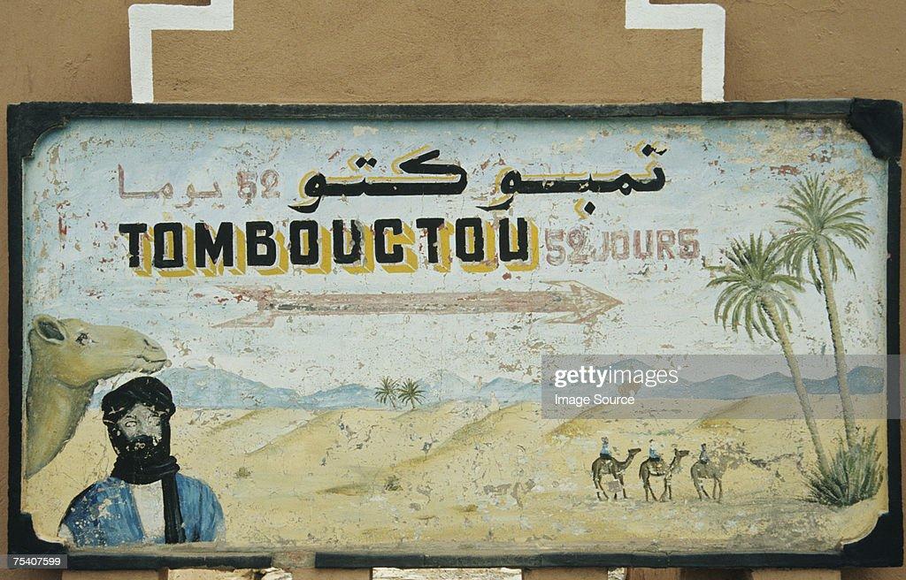 Timbuktu sign : Stock Photo