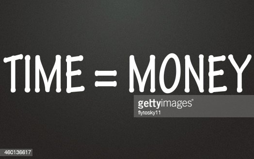 time equal money symbol : Stock Photo