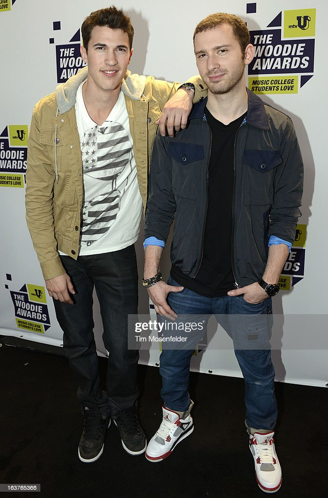 Time Flies pose at the mtvU Woodie Awards on March 14, 2013 in Austin, Texas.