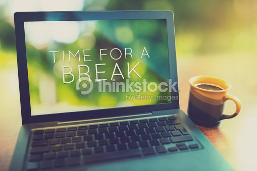 Time for a coffee break vintage editing style : Stock Photo