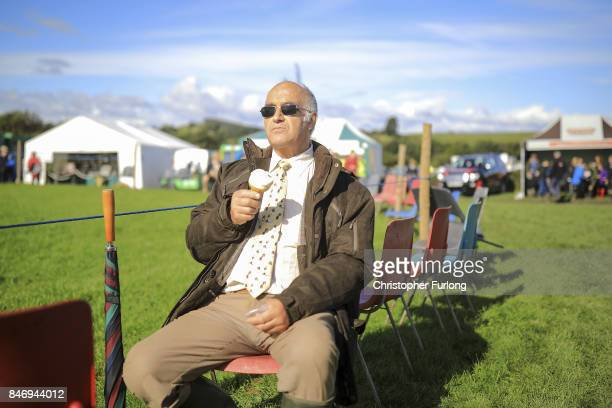 Time for an ice cream during the Westmorland County Show on September 14 2017 in Milnthorpe England The Westmorland County Show is showcases British...