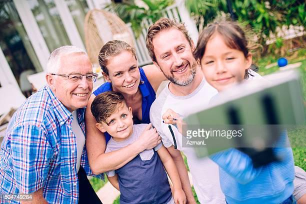 Zeit für die Familie selfie!