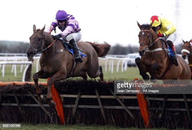 Time for Rupert and jockey William Kennedy go on to win the Sidney Banks Memorial Novices' Hurdle at Huntingdon Racecourse Cambridgeshire