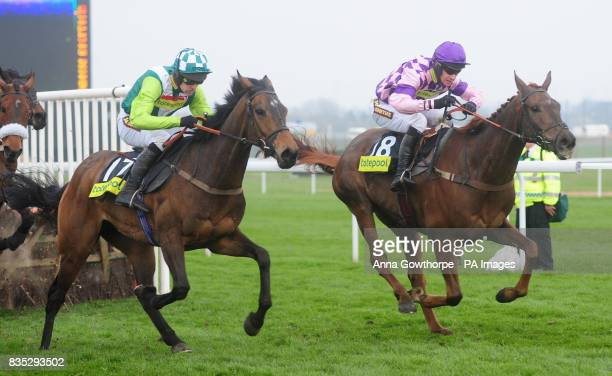 Time for Rupert ridden by William Kennedy beats Inchidaly Rock ridden by Ruby Walsh to win the totepool Handicap Hurdle Race during the Second Day of...