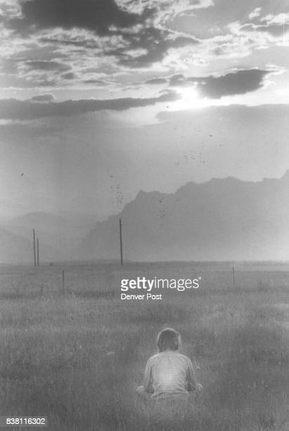 Time For Thinking A lone man meditates as he looks toward the setting sun near Rocky Flats plant The plant in the northwestern Denver area has been...