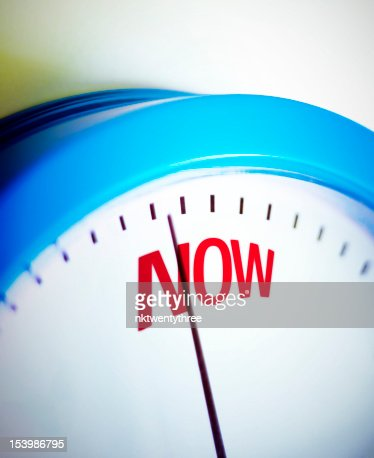Time is NOW : Stock Photo