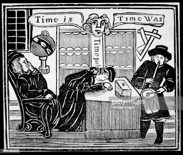 Time is Time was' Copy of an illustration from History of the learned Friar Bacon used in a collection of chapbooks on esoterica Artist Unknown