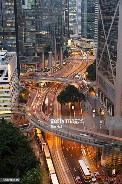 Time lapse view of urban traffic