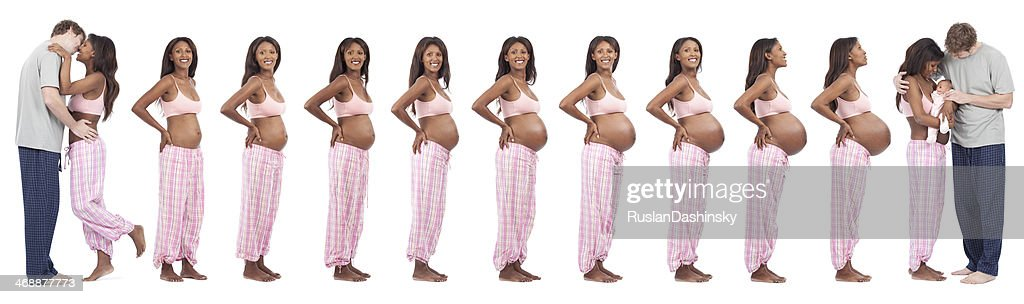 Time period of love, 9 month and birth. : Stock Photo
