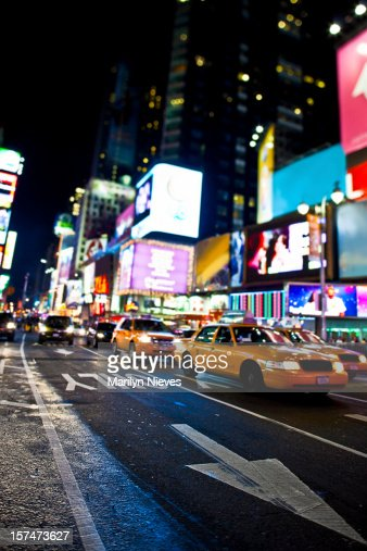 Time Road Id Roblox: Time Square Traffic Stock Photo