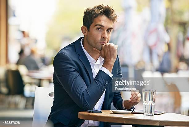 Tempo para fazer business.but primeiro, café