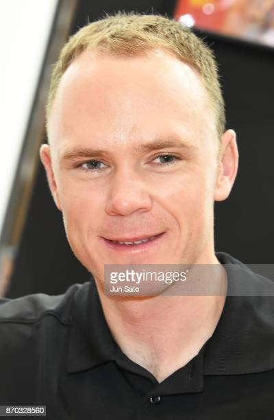 4 time Tour de France winner Chris Froome attends the Cycle Mode International at Makuhari Messe on November 5 2017 in Chiba Japan