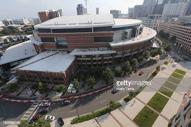 Time Warner Cable Arena home for the Charlotte Bobcats NBA team is seen on August 21 2012 in Charlotte North Carolina The 2012 Democratic National...