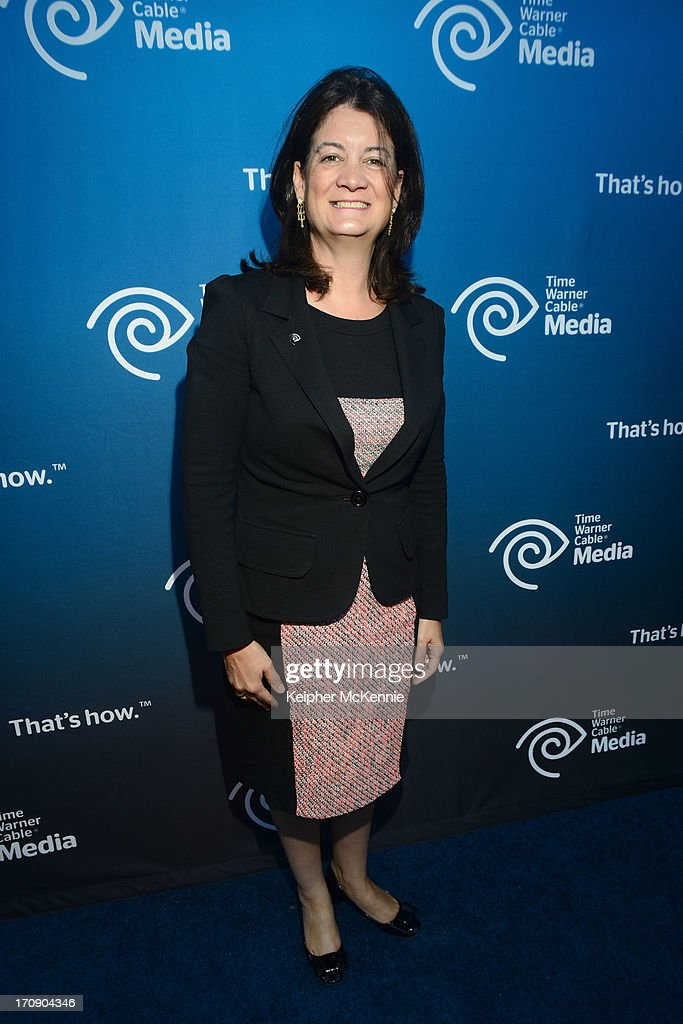 Time Warner Cable EVP and COO Joan Gillman attends Time Warner Cable (TWC Media) 'View From The Top' Upfront honoring LA Lakers' Dr. Jerry Buss at Vibiana on June 19, 2013 in Los Angeles, California.