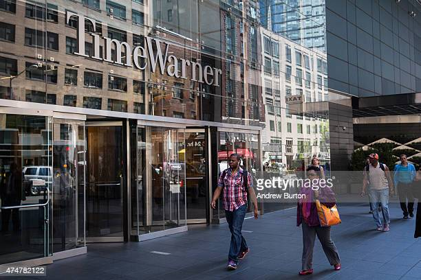 Time Warner Cable headquarters are seen in Columbus Circle on May 26 2015 in New York City Charter Communications announced this morning that it has...