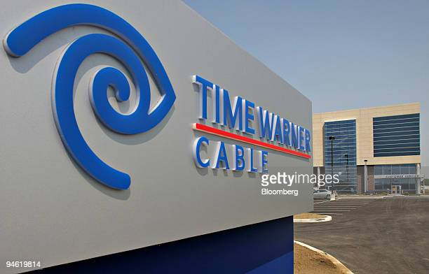 Time Warner Cable logo appears on a sign outside the company's offices in Columbus Ohio Wednesday Aug 1 2007 Time Warner Inc the world's largest...