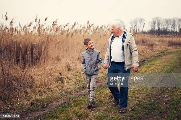 Zeit mit meinen Opa im Landschaft