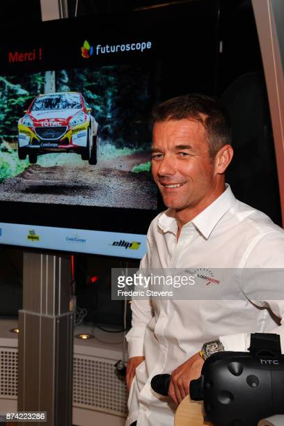 9 time World Rally Champion Sebastien Loeb presents a new attraction for 2018 at Futuroscope on November 14 2017 in Paris France The attraction will...