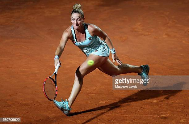 Timea Babos of Hungary in action against Venus Williams of the United States during day four of the The Internazionali BNL d'Italia 2016 on May 11...