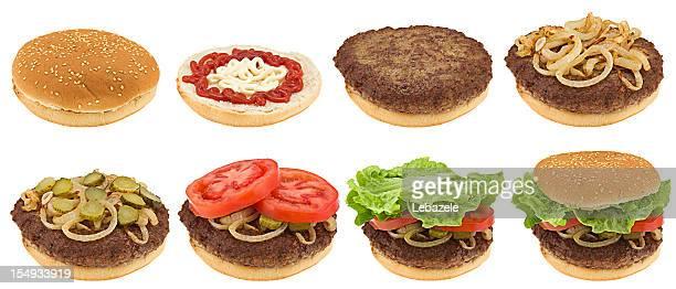 Timelapse hamburger making