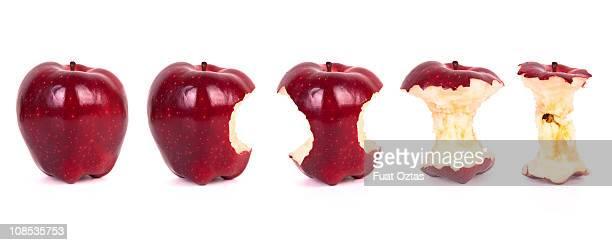 Zeitachse von isst einen Apfel (XXXL