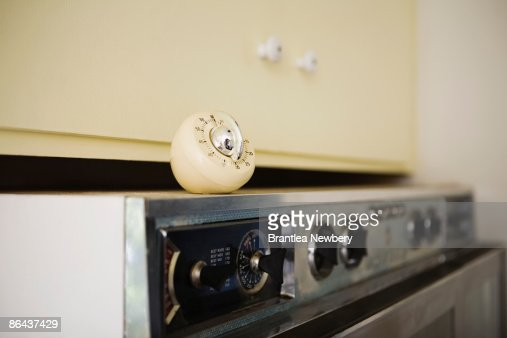 Timer on top of stove