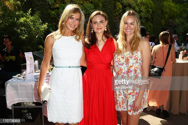 NY Times Best Selling Author/Health Wellness Activist Kathy Freston Actor Emily Deschanel and E News Correspondent Ashlan Gorse attend The Humane...