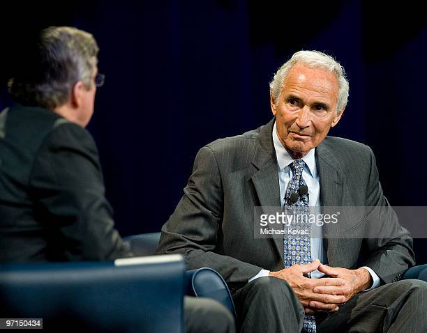 Times columnist TJ Simers moderates a discussion with baseball pitching legend Sandy Koufax to help raise money for the Joe Torre 'Safe At Home'...
