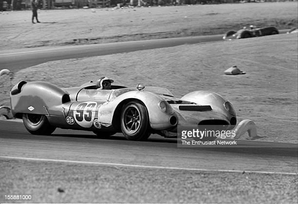 Times Grand Prix Riverside Bob Bondurant of Shelby American driving a Ford powered Cooper MonacoKing Cobra