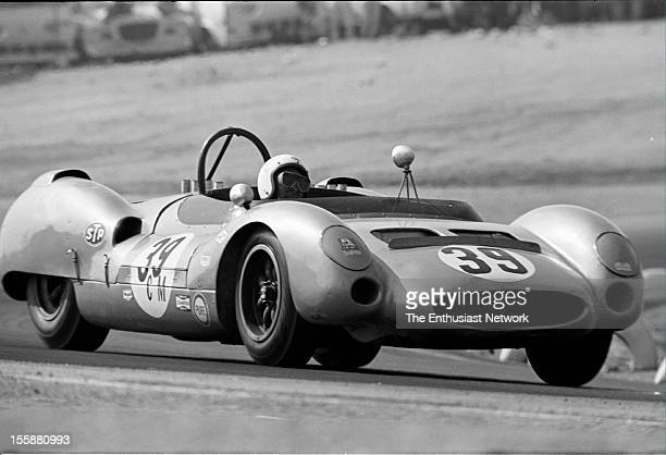 Times Grand Prix Riverside Charles Cox of Shelby American driving a Ford Powered Cooper MonacoKing Cobra