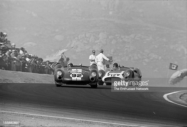 Times Grand Prix Riverside Richie Ginther in a Ford Powered Cooper King Cobra leads George Wintersteenin his Cooper Monaco T61M