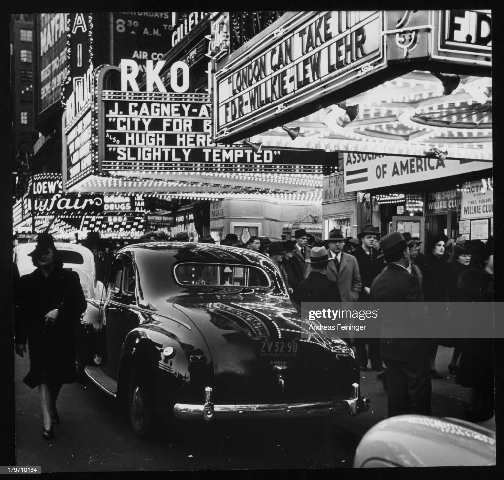 Times Square - 42nd Street, New York, New York, ca. 1940.