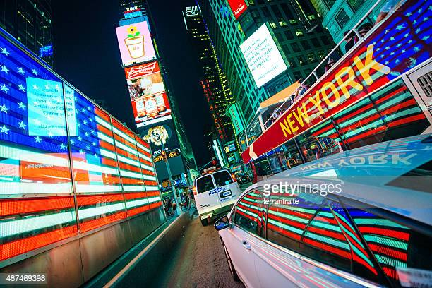 Times Square American Flag in New York City