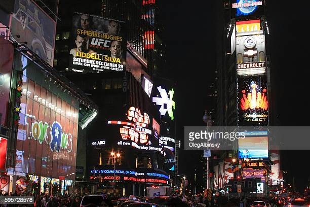 Times Square at Night, Manhattan, New York City, USA.