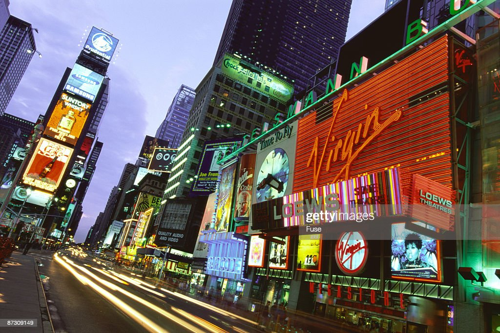 Times Square at night, Manhattan, New York, USA