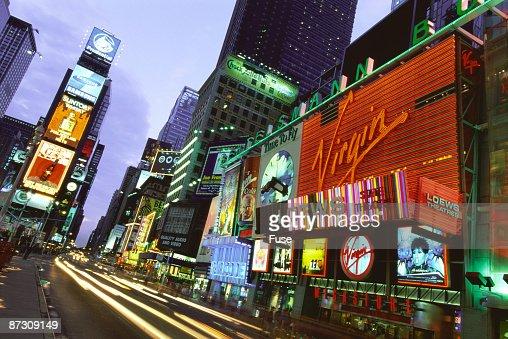Times Square at night, Manhattan, New York, USA