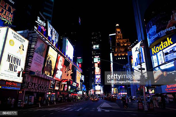 Times Square at night, New York City, NY, USA