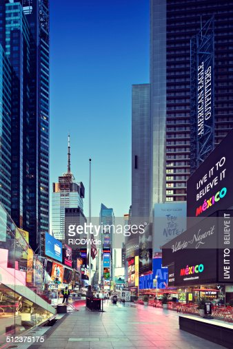 Times Square at sunrise