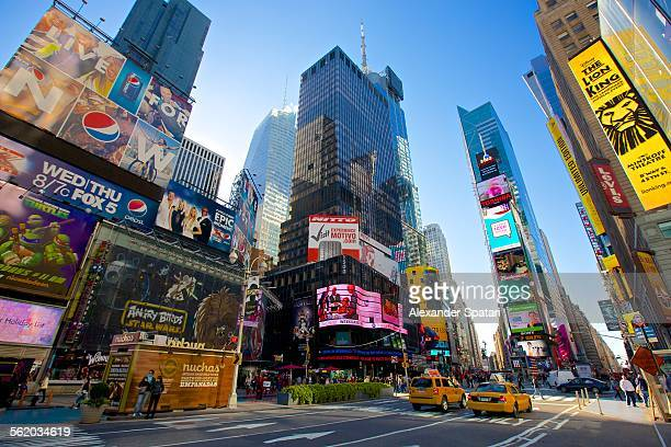 Times Square in the morning, Manhattan, New York