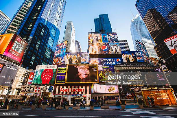 Times Square in the morning