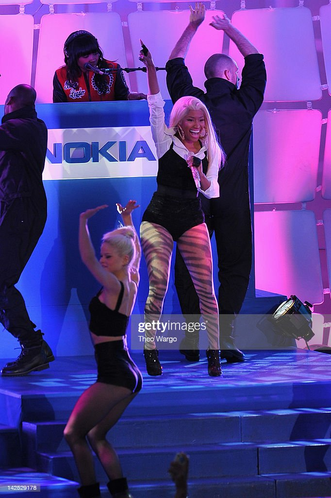 Times Square was brought to a standstill on April 6 2012 as Nicki Minaj teamed up with Nokia to perform live for the launch of the Nokia Lumia 900...