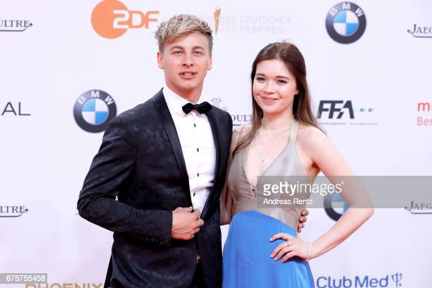 Timmi Trinks and Farina Flebbe attend the Lola German Film Award red carpet at Messe Berlin on April 28 2017 in Berlin Germany