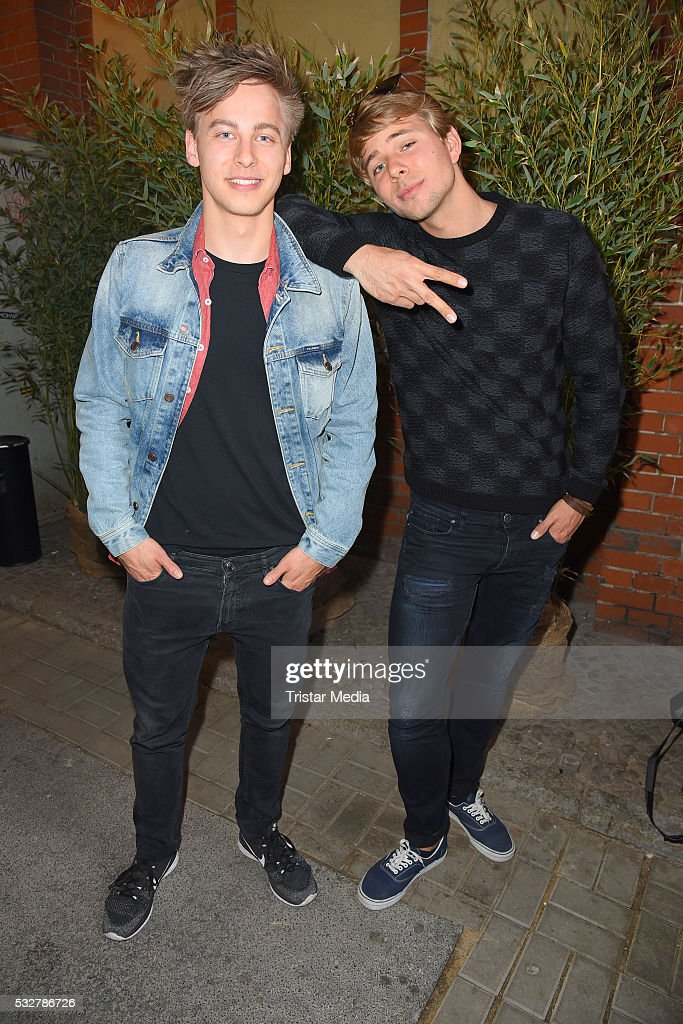Timmi Trinks and his brother Benjamin Trinks attend the 'Into the Wild' ASOS Magazin Launch Party on May 19 2016 in Berlin Germany