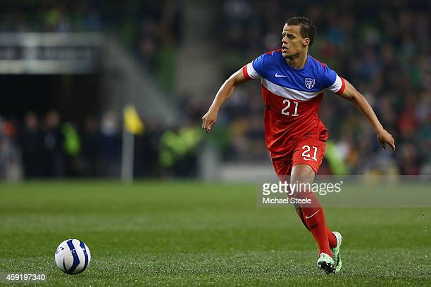 Timmy Chandler of USA during the International Friendly match between the Republic of Ireland and USA at the Aviva Stadium on November 18 2014 in...