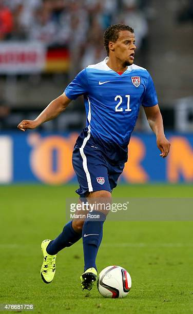 Timmy Chandler of USA runs with the ball during the International Friendly match between Germany and USA at RheinEnergieStadion on June 10 2015 in...