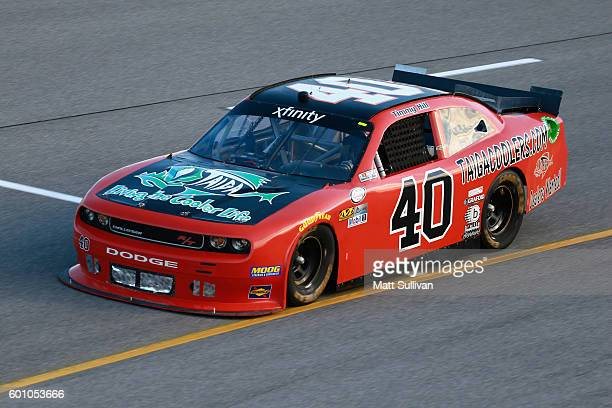Timmy Hill driver of the Taiga Coolers/OCR Gaz Bar Dodge practices for the NASCAR XFINITY Series Virginia529 College Savings 250 at Richmond...