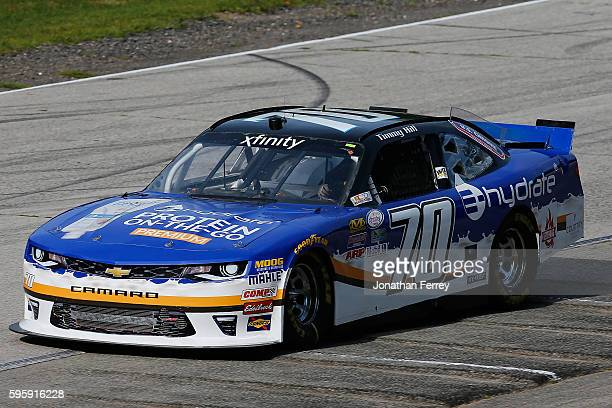 Timmy Hill drives the CHrome/EHydrate Chevrolet during practice for the NASCAR Xfinity Series Road America 180 fired up by Johnsonville at Road...