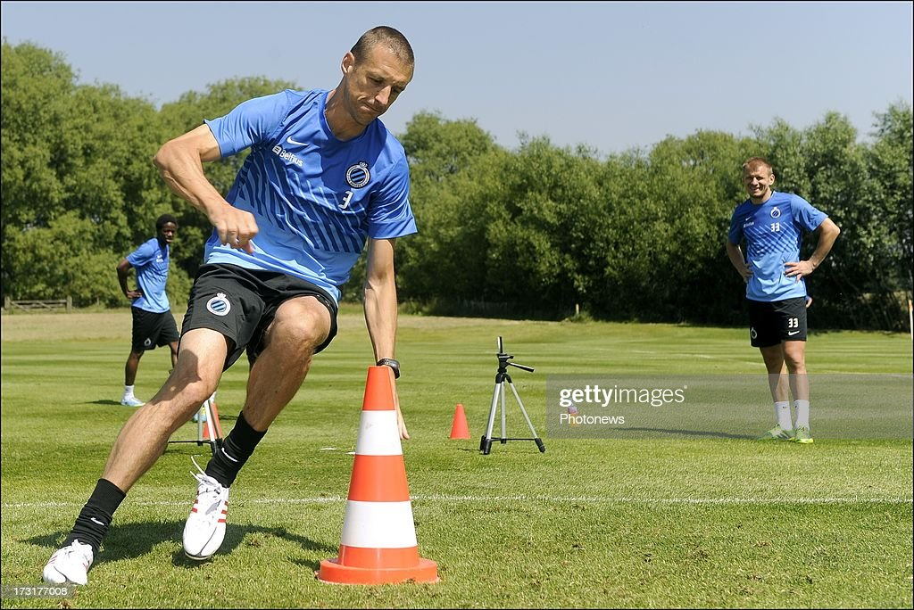 Timmy Simons of Club Brugge KV in action during the second day of a Club Brugge summer camp training session on July 9, 2013 in Manchester, England.