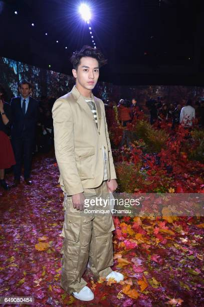 Timmy Xu attends the Moncler Gamme Rouge show as part of the Paris Fashion Week Womenswear Fall/Winter 2017/2018 on March 7 2017 in Paris France